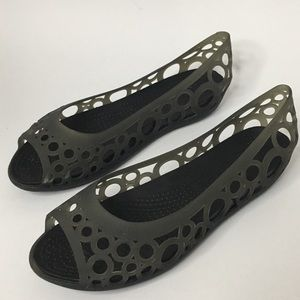 Crocs Isabella Open Toe Cut Out  Jelly Size 7